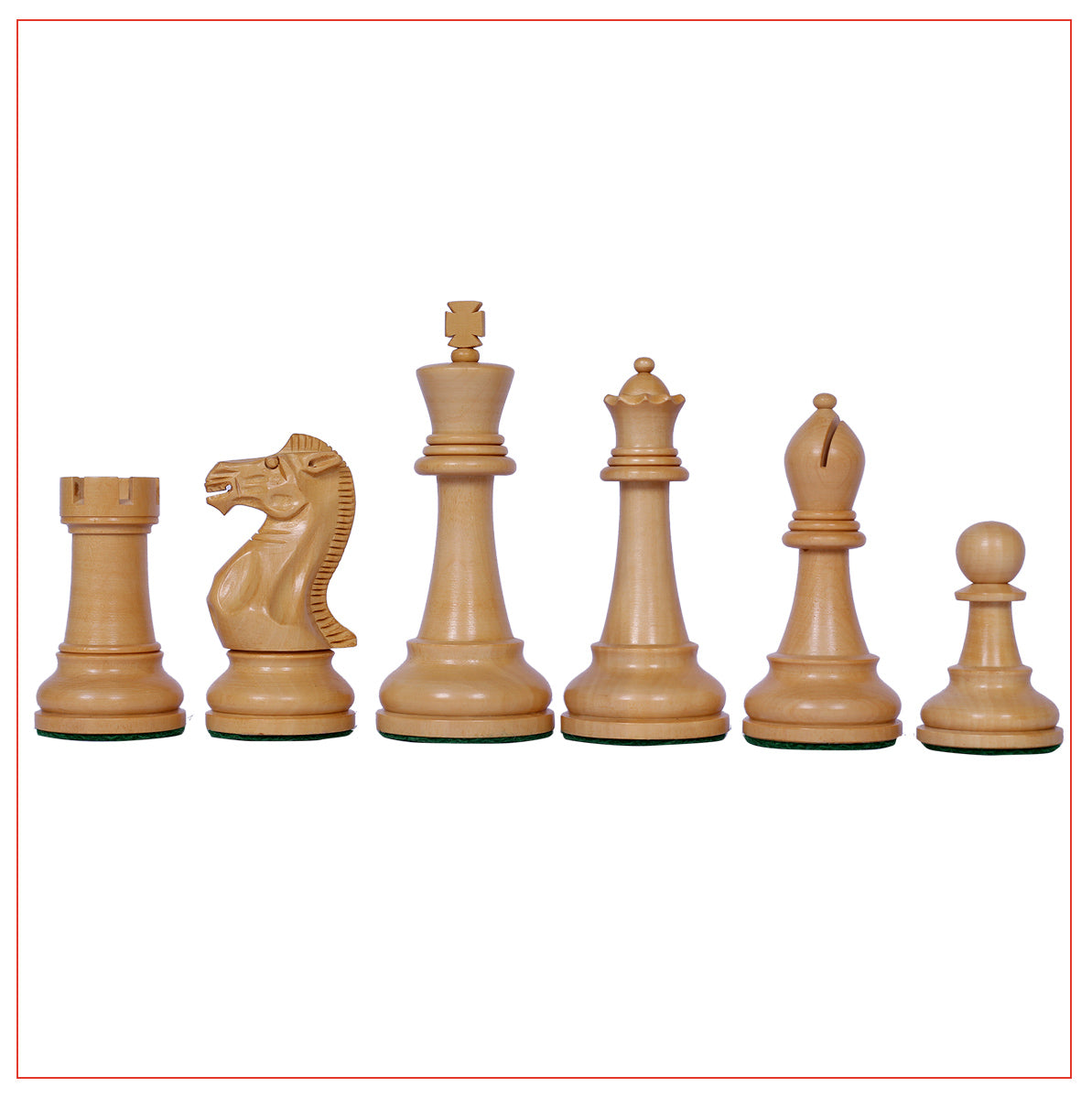 "Verona Series 4"" Staunton Chess Pieces - Ebonised Wood"