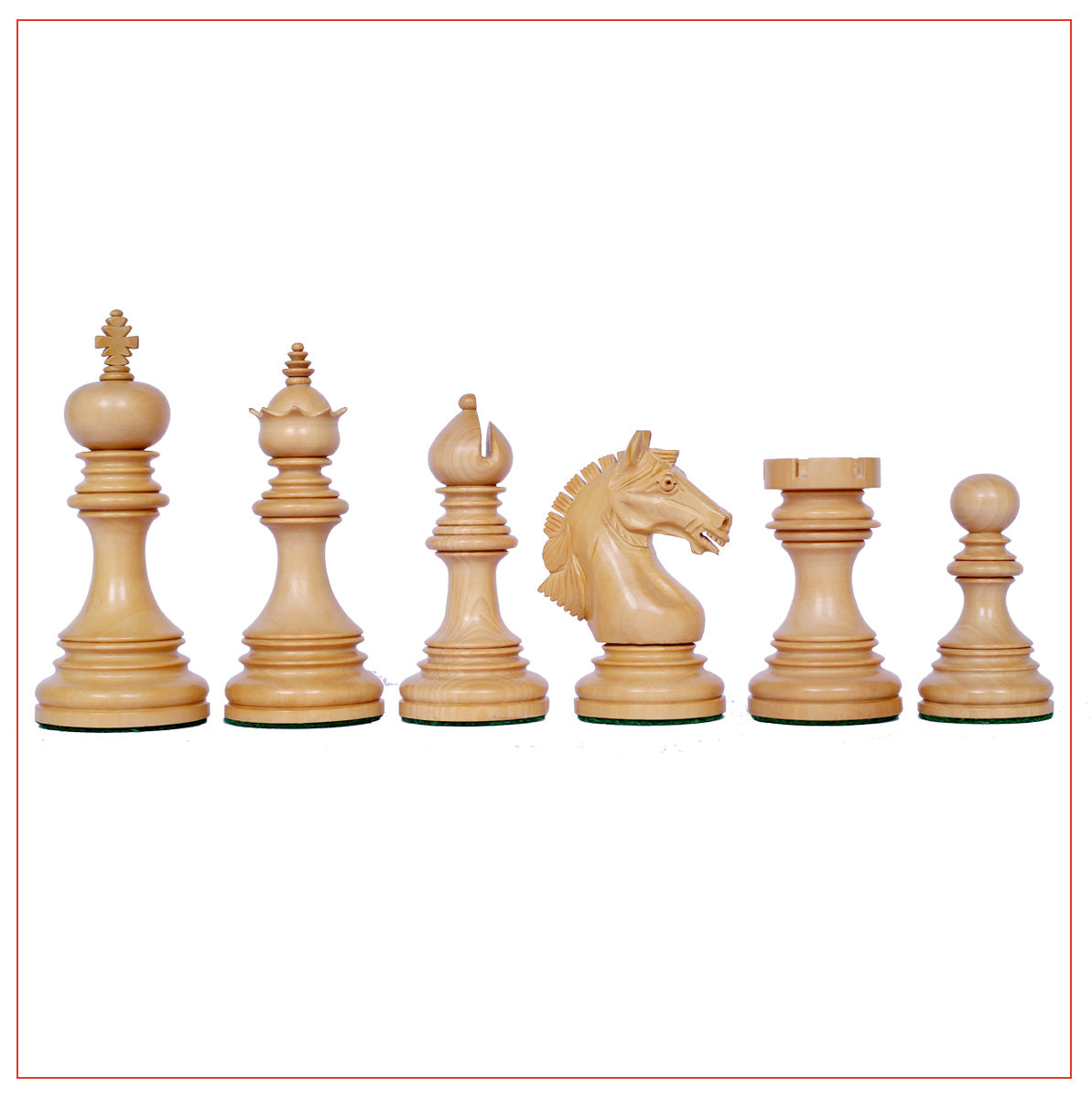 "Patras Series 4"" Ebony Wood Staunton Chess Set"