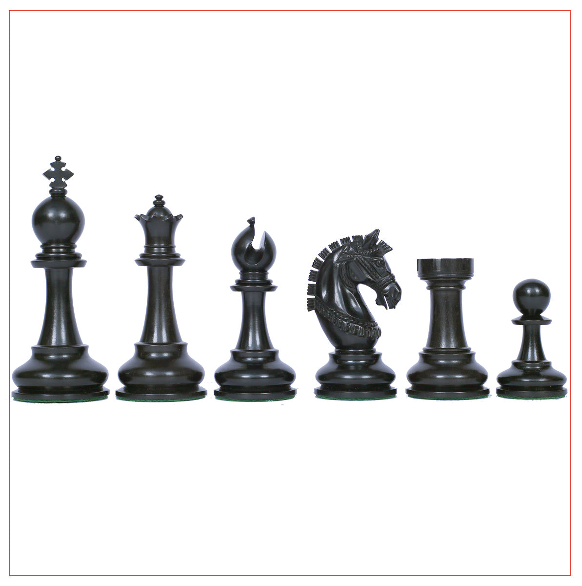 "Aristocrat Series Ebony Staunton 4.1"" Chessmen with Board"