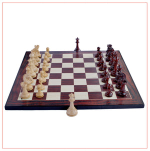 Aristocrat Series Padouk Wood Chess Set