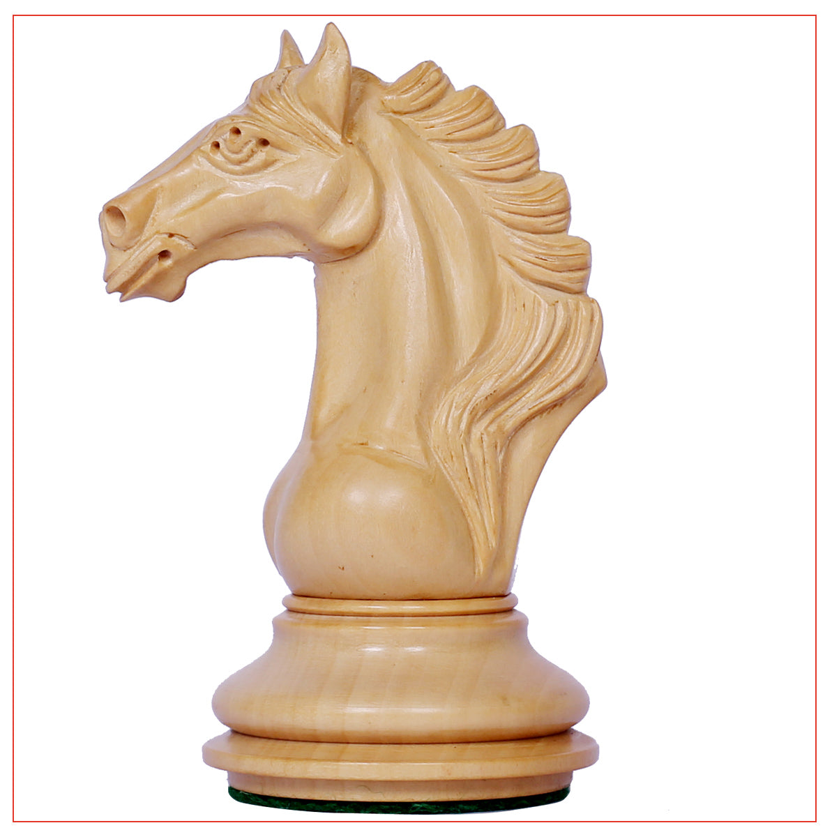 "Mecadon Series 4.4"" Padouk Wood Staunton Chess Set"