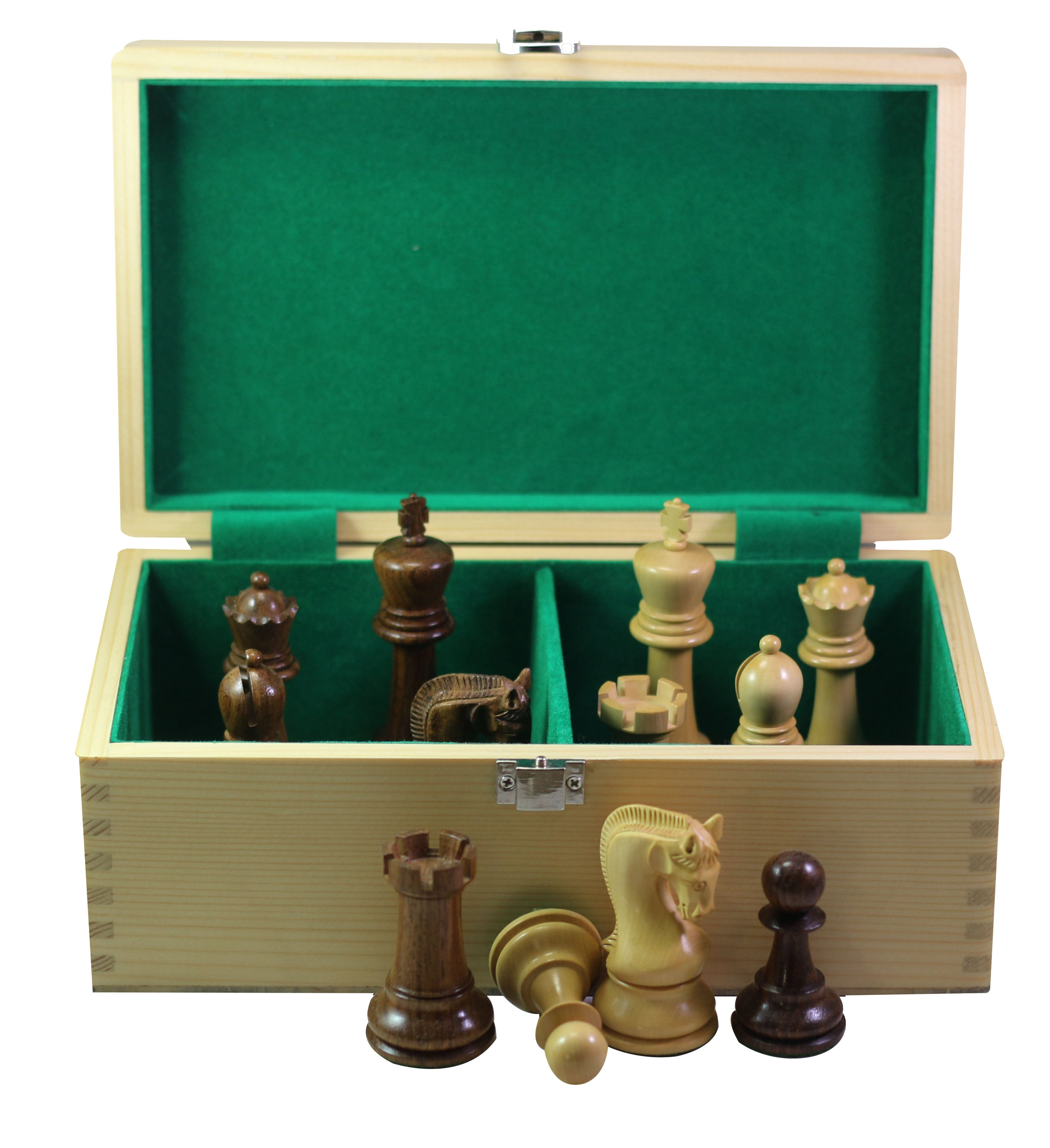 "Wooden Storage Box for 4"" King Height Chess Set in Maple wood"