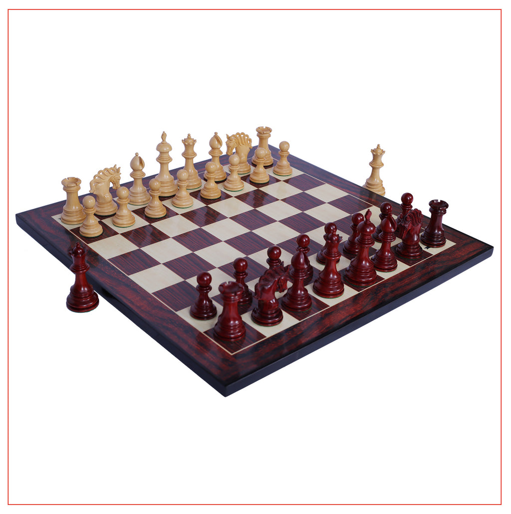 "Westminster Series 4.4"" Staunton Chess Set - Padouk Wood"