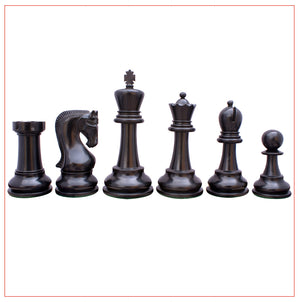 "Leningrade Series 4"" Ebonised Staunton Chess Set"