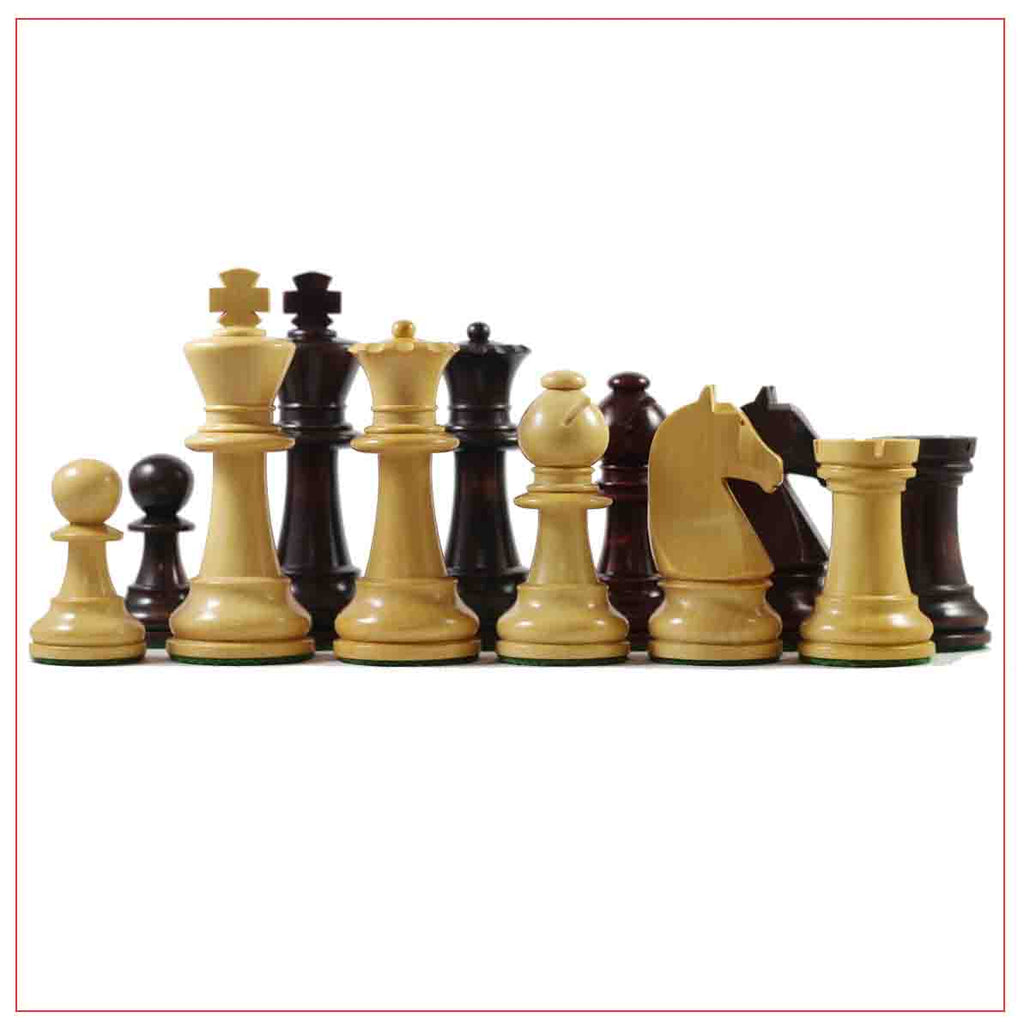 "Vintage French Pattern 3.75"" Reproduction Chess Set"