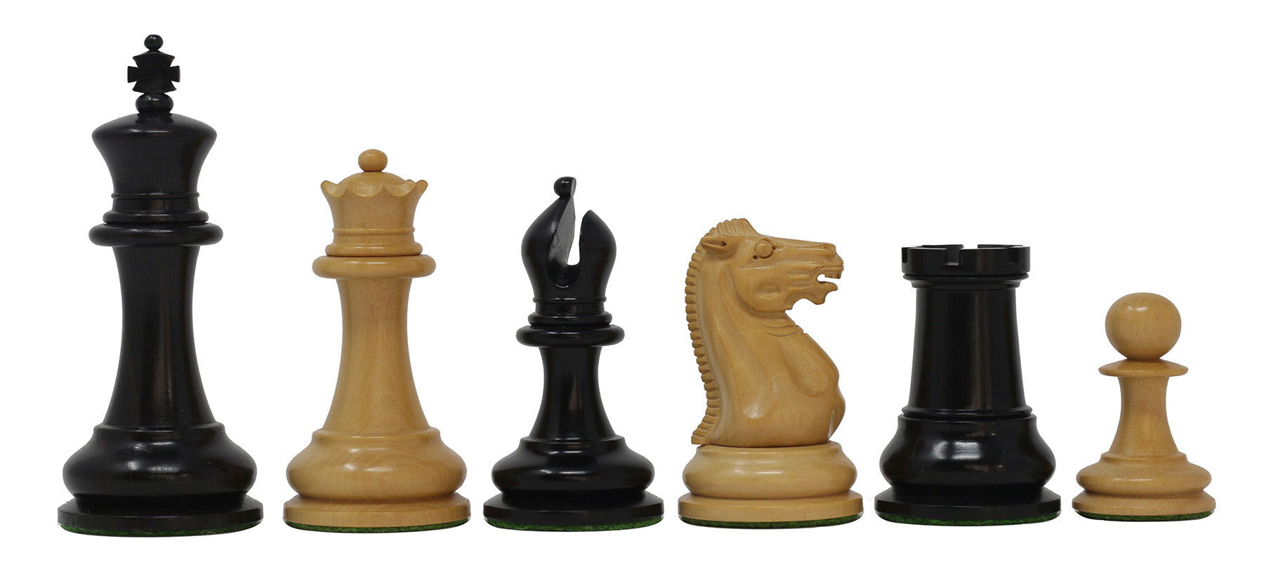 "Nathaniel 1849 Antique Reproduction Vintage 3.75"" Ebony/Box Wood (without antique look) Chess Set"