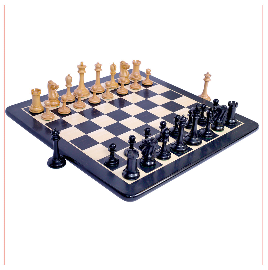 "B & Company Reproduction 4.4"" Staunton Chess Set"