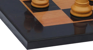 "Antique Look Chess Board with square size 2.5"" X 2.5"" in Ebony/Box wood look"