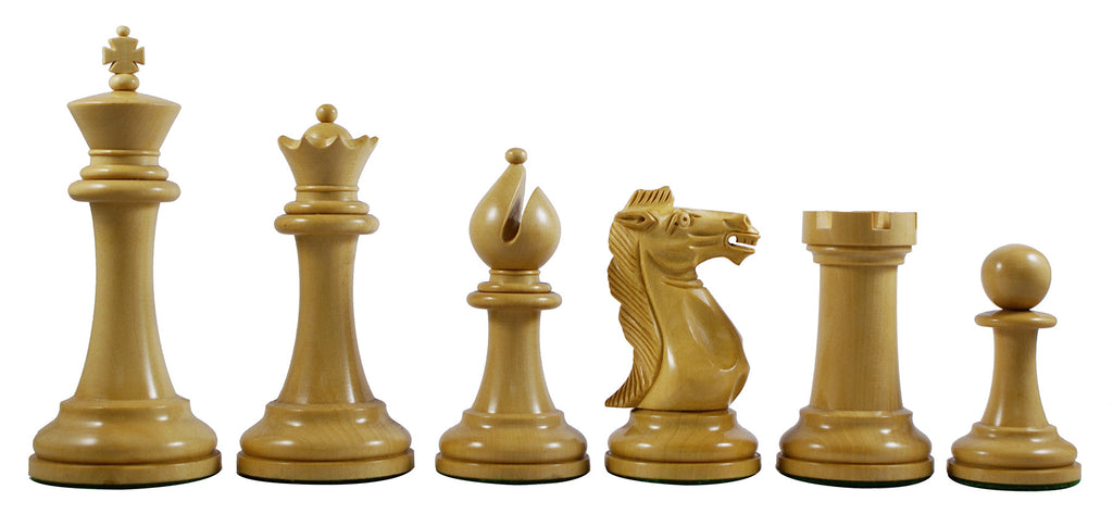 "Conquest Series 4"" Premium Staunton Chess Set in Ebonized Box Wood"