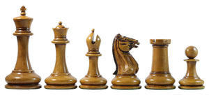 "Morphy  Cooke 1849-50 Vintage 4.4"" Reproduction Chess Set in Distressed Antique Look"