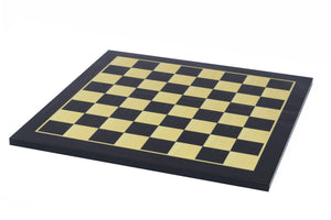 "Chess Board with 2.5"" Square size in Ebony/Box wood Look"
