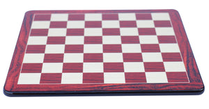 "Chess Board with Square size 2.5"" in African Padouk and Box wood Look"