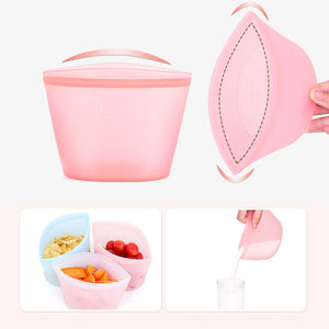 (80% OFF)Reusable Vacuum Silicone Food Bag-1000ml