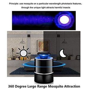 Mosquito Trap Mosquito Killer, Chemical-Free USB Powered UV LED Light Photocatalyst Fly Bug Dispeller with Suction Fan for Indoor Home LED Mosquito Killer lamp