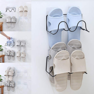 Wall Hanging Single Layer Paste Slippers Shelf Racks Shoes Shelf