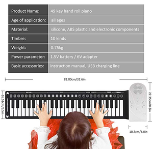 Ihrtrade,Musical Instrument,HRPP53621,Portable piano price,Roll up piano keyboard australia,Roll up piano keyboard uk,Best portable roll up piano keyboard,Portable pocket piano