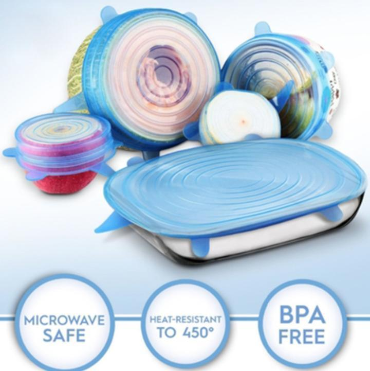 (6 pcs/set)Stretch & Fit - Silicone Stretch Lids(buy 3 get 1 free-Each set as low as $8.2)