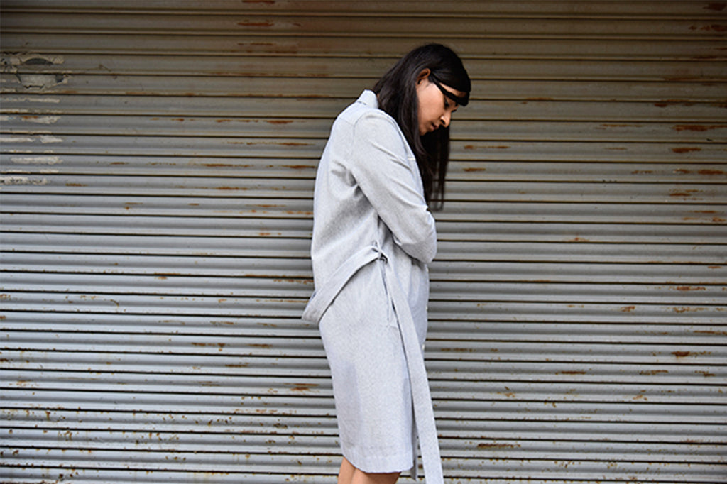 AT THE STUDIO: WITH OUR SIGNATURE SHIRTDRESS