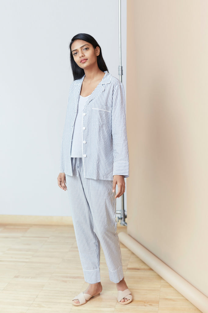 Modern Striped Pajama Set