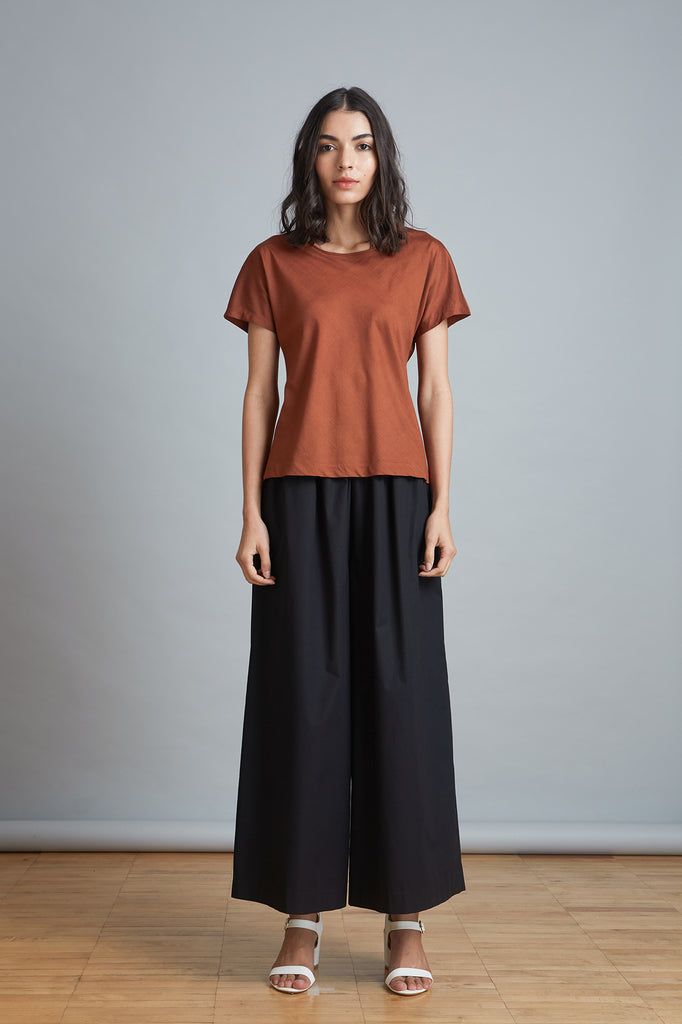 Cotton Silk Bias Cut Tee