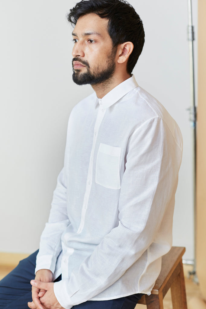 Tailored Point Collar Shirt