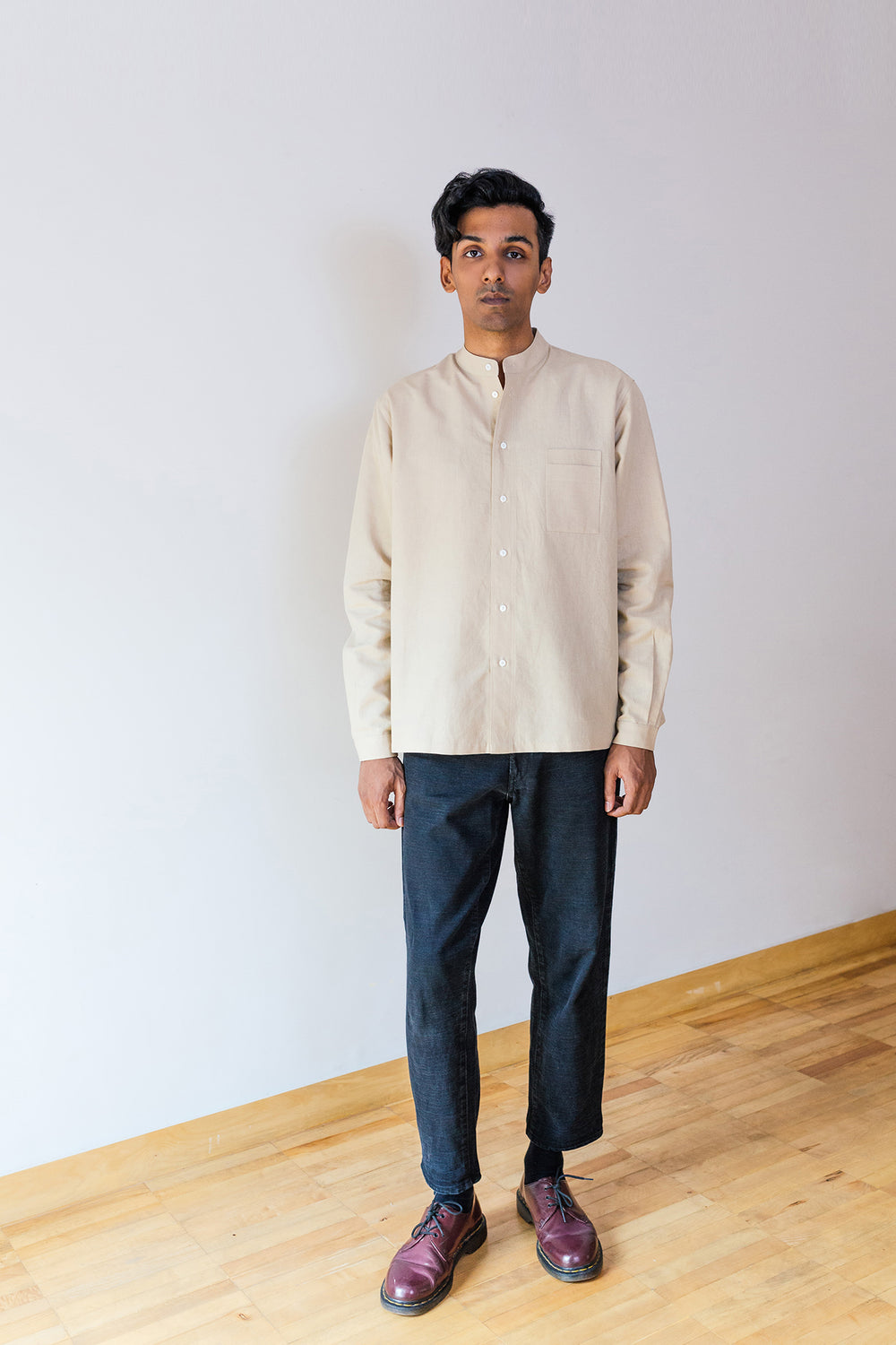 Linen Double Pocket Shirt