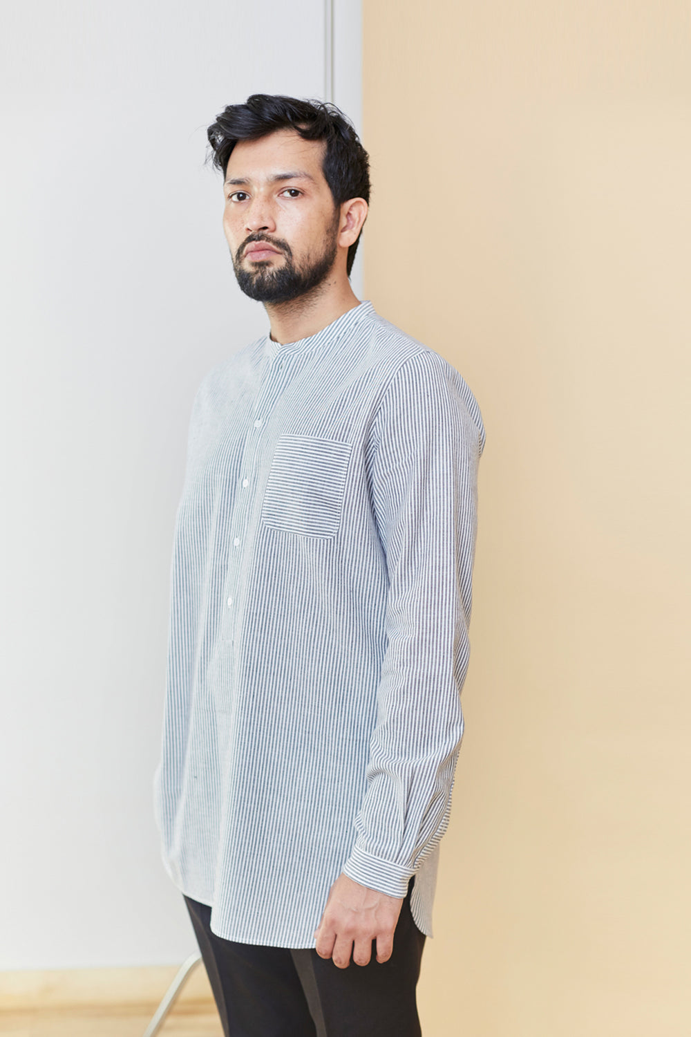 Striped Cotton Kurta Shirt