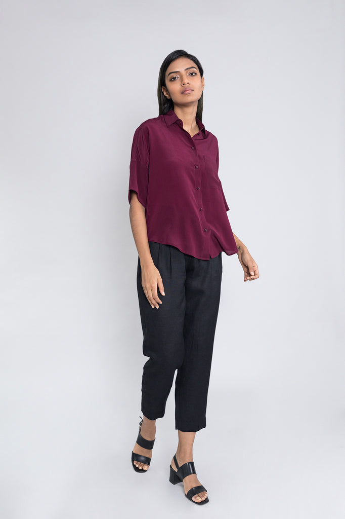 Boxy Silk Top