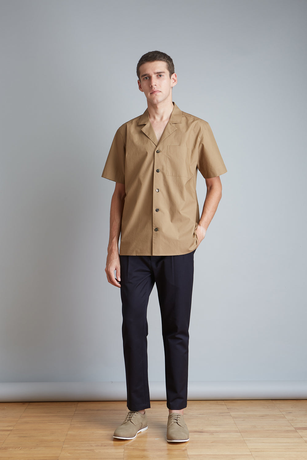 Cotton Camp Collar Shirt