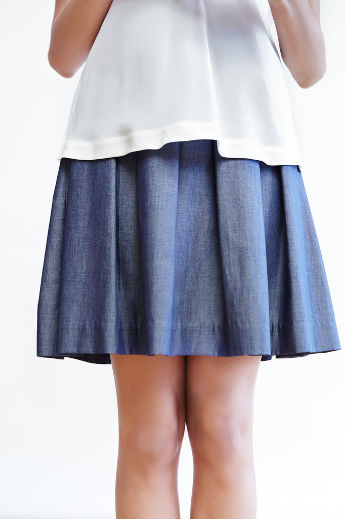 Box Pleated A-Line Skirt