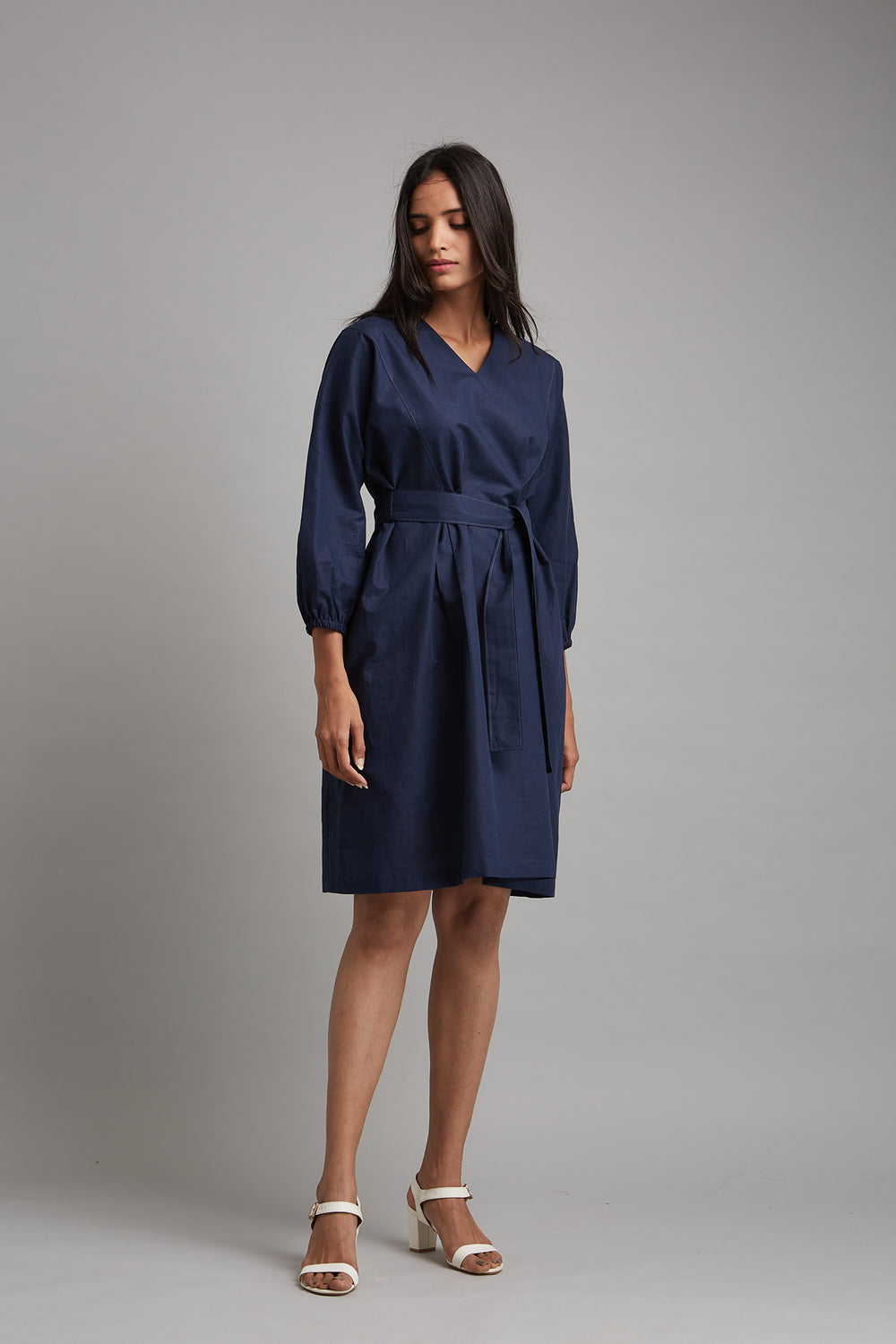 Relaxed Cotton Linen Dress