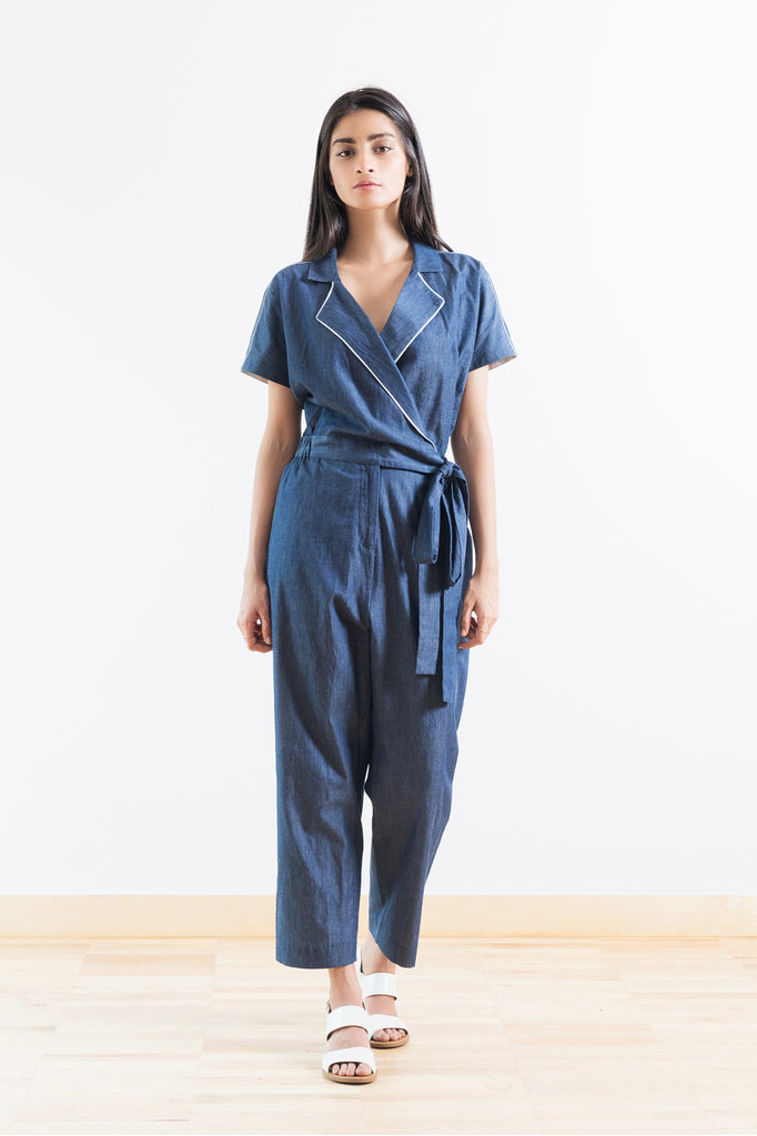 Chambray Cotton Jumpsuit