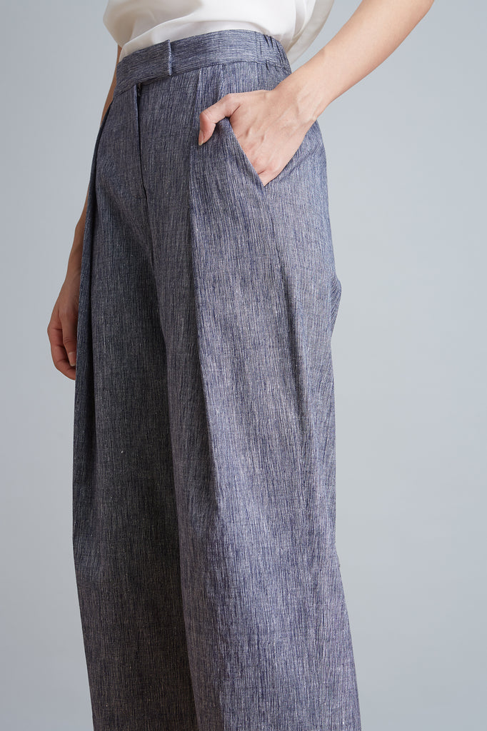 Handwoven Single Pleat Front Pant