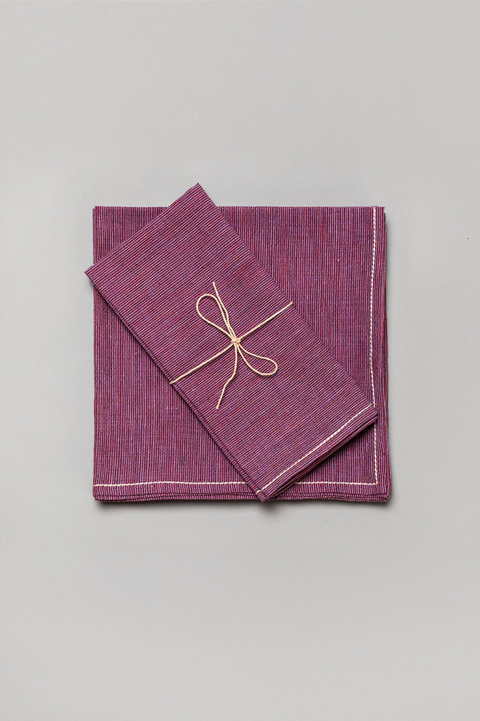 Handwoven Khadi Cotton Napkin Set
