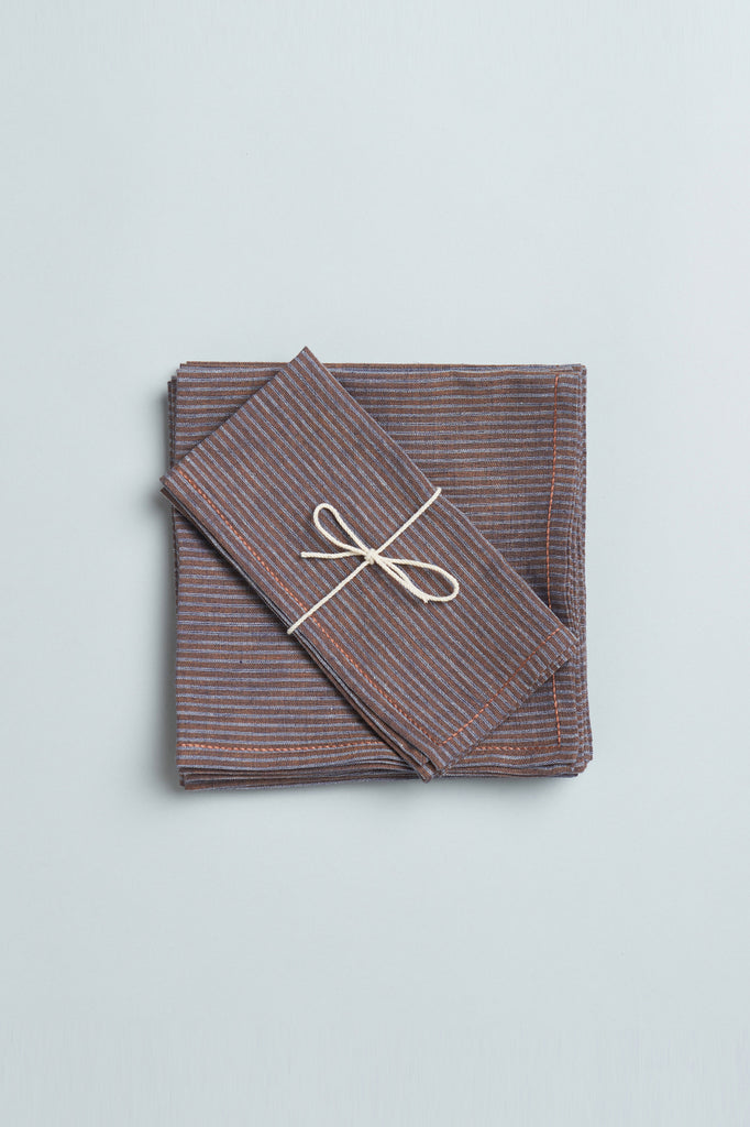 Striped Handwoven Khadi Napkin Set
