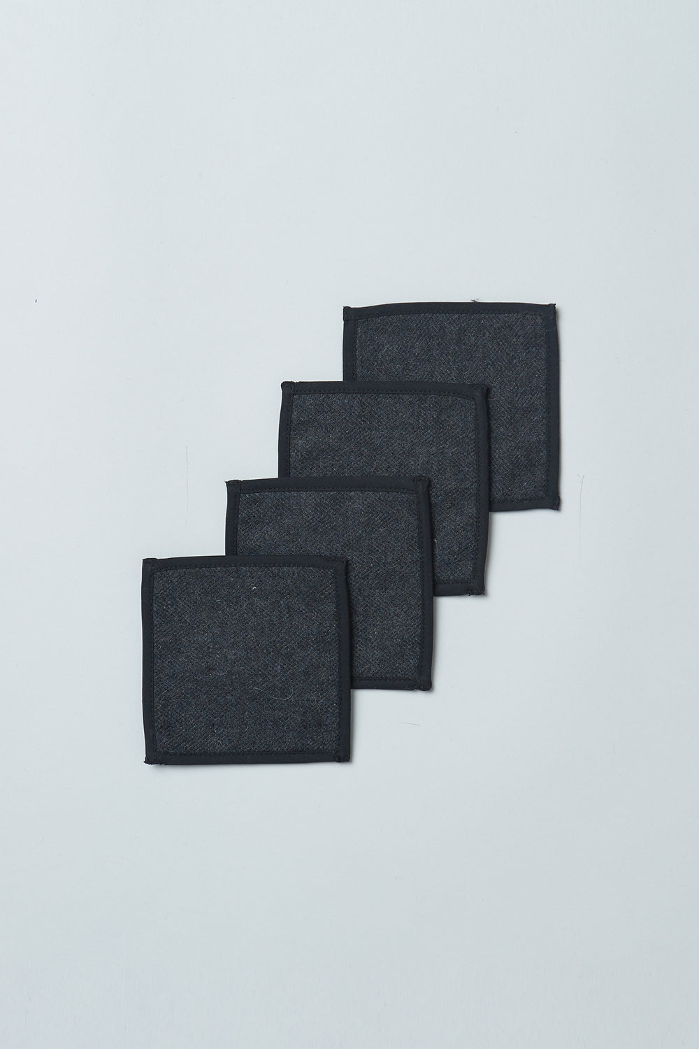 Wool Upcycled Coasters (Set of 4)