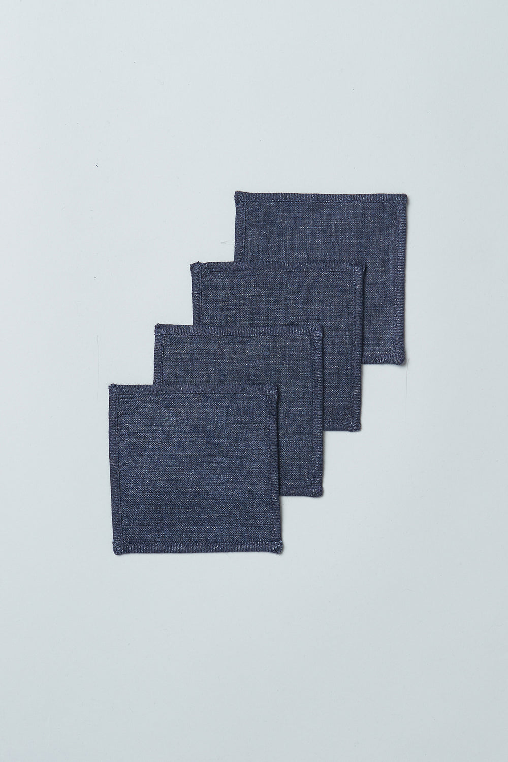 Linen Upcycled Coasters (Set of 4)