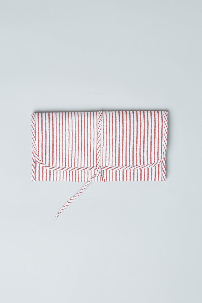 Utility Pouch - Red Pinstripe