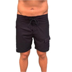 VAIKOBI PADDLE BOARD SHORTS - BLACK/GREY