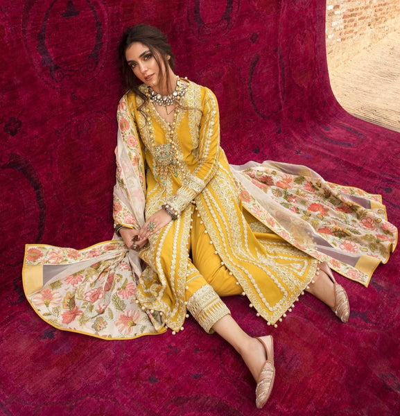 Crimson Luxury Lawn Collection 2021 By Saira Shakira -Rocked !