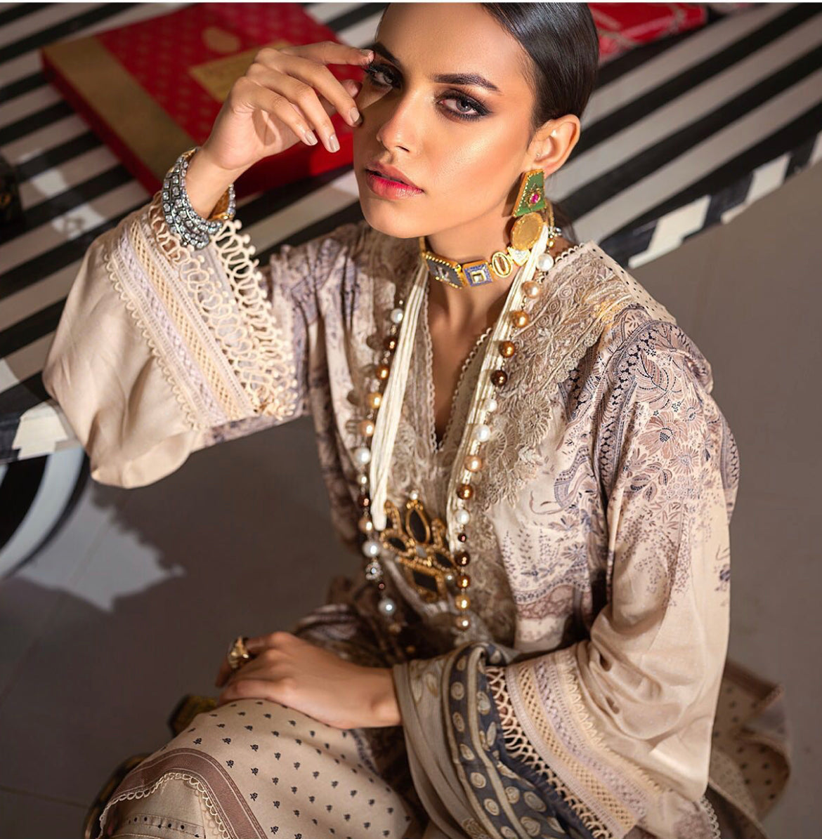 Pakistani outfit for winter wedding UK Online sale