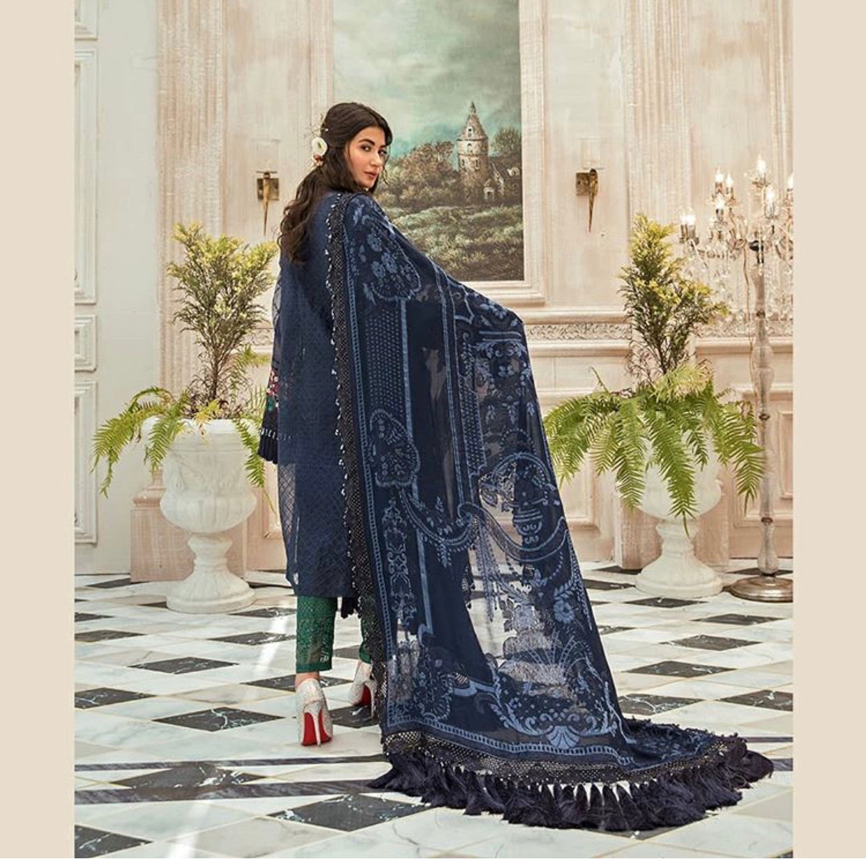 Maria B Mbroidered Chiffon Eid Collection Eid 2020 Indian Bollywood suits USA