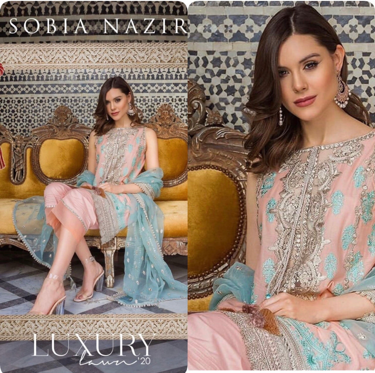 Sobia Nazir luxury Lawn 2020 Pakistani suits USA online