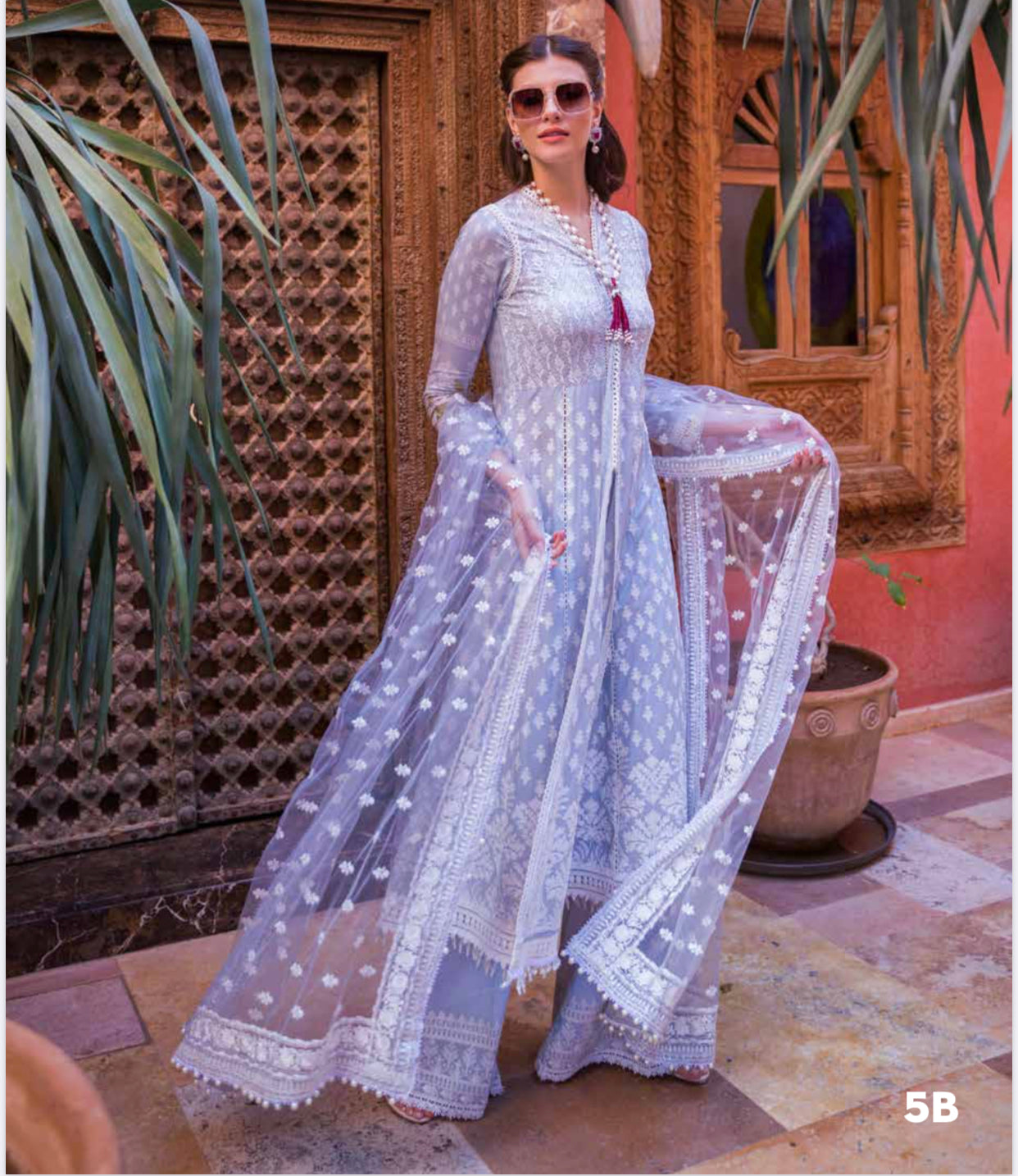Eid 2020 sobia nazir net chiffon embroidered dresses UK sale