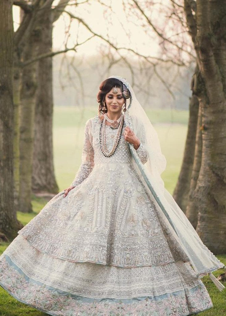 White nikah dress for Pakistani brides