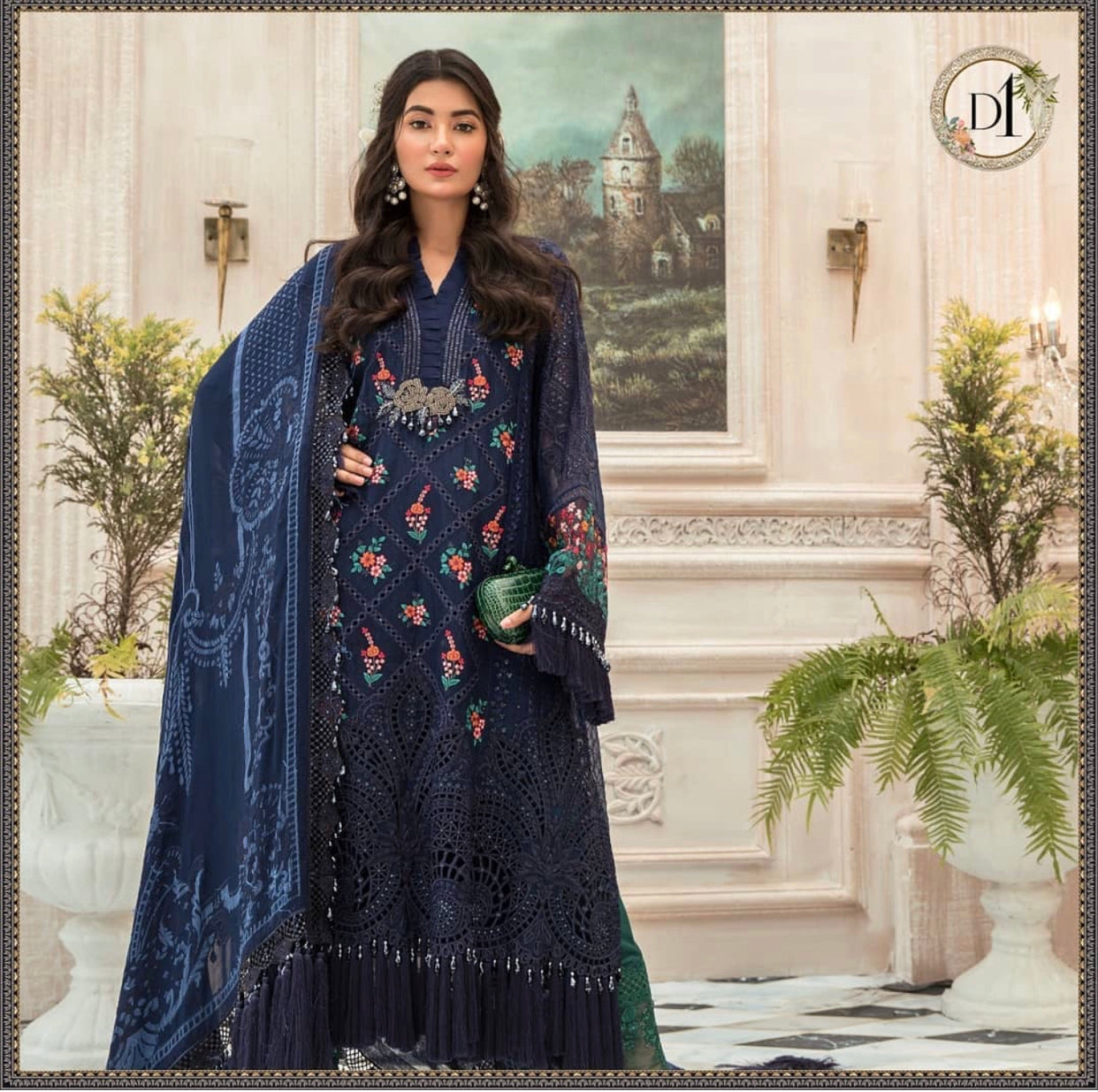 Maria B Mbroidered Chiffon Eid Collection Eid 2020 Pakistani designer dresses collection suits online accessories