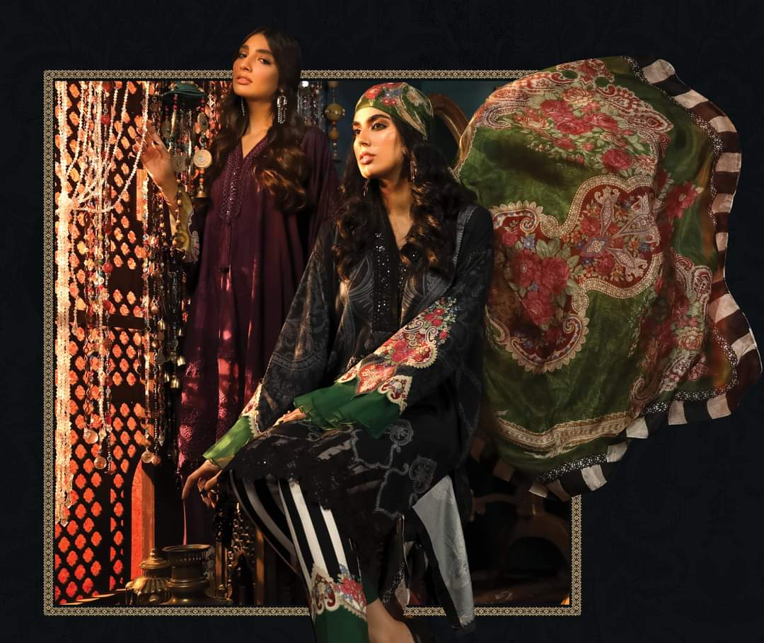 Winter suits by Maria B Pakistani fashion designer UK and a India Online sale