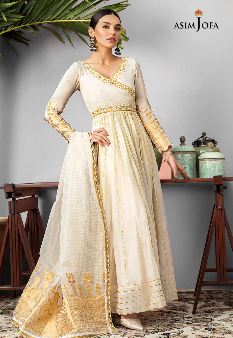 White-ASIM JOFA READY-TO-WEAR COLLECTION 2020: Asim Jofa Originals are now In High Demand and Exclusively stitched at LebaasOnline . Buy Pakistani Designer Dresses Collection 2020 at www.lebaasonline.co.uk stitched, unstitched and ready made Asim Jofa Dresses in London UK, Birmingham. Canada, USA, Singapore and Dubai.