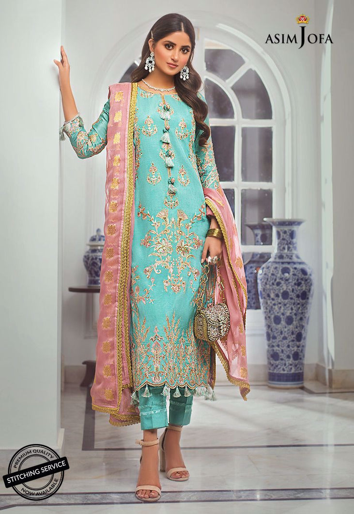 Shop NOW ASIM JOFA | VASL COLLECTION 2021 | AJVL-10 at our Online Boutique www.LebaasOnline.co.uk. An ethnic suits worked upon rust Cotton Net base. Indian Pakistani Designer Party wear dresses 2021 collection in the UK & USA Online for SALE. Browse ASIM JOFA | VASL COLLECTION 2021  - AJVL-10 Wedding Salwar Suits.