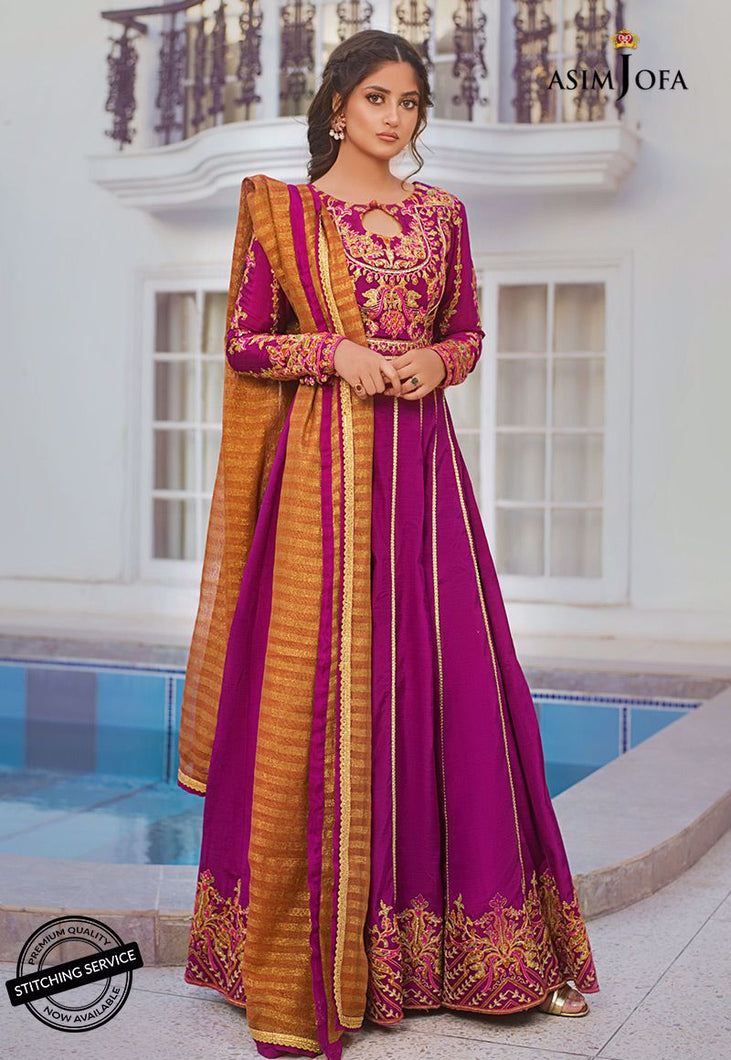 Shop NOW ASIM JOFA | VASL COLLECTION 2021 | AJVL-08 at our Online Boutique www.LebaasOnline.co.uk. An ethnic suits worked upon rust Cotton Net base. Indian Pakistani Designer Party wear dresses 2021 collection in the UK & USA Online for SALE. Browse ASIM JOFA | VASL COLLECTION 2021  - AJVL-08 Wedding Salwar Suits.